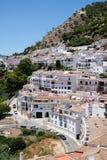 MIJAS ANDALUCIA/SPAIN - JULI 3: Sikt från Mijas i Andalucia Arkivbilder