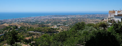 MIJAS, ANDALUCIA/SPAIN - JULY 3 : View from Mijas in Andalucia stock image