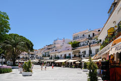 MIJAS, ANDALUCIA/SPAIN - JULY 3 : View of Mijas Andalucia Spain. On July 3, 2017. Unidentified people stock image
