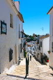 Mijas architecture, Calle del Pillar street Royalty Free Stock Photography