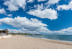 Mijas Beach Costa Del Sol. Andalusia Spain royalty free stock photo
