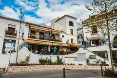 Mijas is a charming white village in Andalusia with white houses, Spain Stock Images