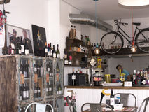 Mijas Cyclist Cafe in Town Square Spain Royalty Free Stock Image