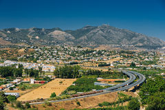 Mijas en Málaga, Andalucía, España Verano Fotos de archivo