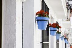 Mijas flower pots Stock Photos