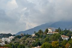Mijas hill Royalty Free Stock Photography