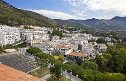 Mijas i landskap av Malaga, Andalusia, Spanien. Arkivfoto