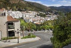 Mijas i landskap av Malaga, Andalusia, Spanien. Royaltyfri Bild