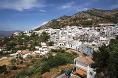 Mijas i landskap av Malaga, Andalusia, Spanien. Arkivbilder