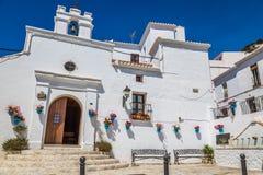 Mijas i landskap av Malaga, Andalusia, Spanien Fotografering för Bildbyråer