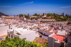 Mijas i landskap av Malaga, Andalusia, Spanien Royaltyfri Foto