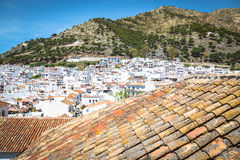 Mijas i landskap av Malaga, Andalusia, Spanien Royaltyfri Bild