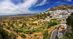 Mijas i landskap av Malaga, Spanien Royaltyfri Bild