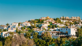 Mijas in Malaga, Andalusia, Spain. Summer. Cityscape. The Village With Whitewashed Houses Stock Photography