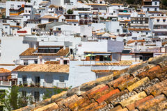 Mijas na província de Malaga, a Andaluzia, Espanha Fotos de Stock Royalty Free