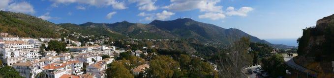 Mijas nelle montagne sopra Costa del Sol in Spagna Immagine Stock Libera da Diritti