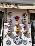 Pottery Shop In Mijas in the Mountains above the Costa del Sol in Spain Stock Photos
