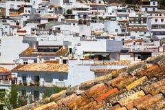 Mijas in Provincie van Malaga, Andalusia, Spanje Royalty-vrije Stock Foto's