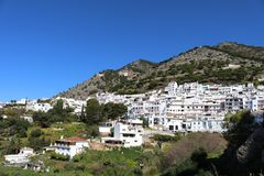 Mijas Pueblo village in Spain. A view of Mijas Pueblo in Spain`s Malaga region in Andalucia royalty free stock image