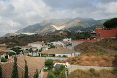Mijas Spain. Mountains and village of Mijas Spain Royalty Free Stock Photography