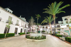 MIJAS, SPAIN - APRIL 30: Mijas village at night on April 30, 2014. Mijas Is a famous touristic town in costa del sol. Royalty Free Stock Image