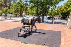 Mijas - statua dell'asino Immagini Stock Libere da Diritti