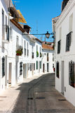 Mijas streets,  white homes Stock Photography