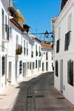 Mijas streets, white homes Stock Photography