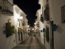 Mijas una di villaggi 'bianchi' più bei di Andalusia Immagini Stock Libere da Diritti
