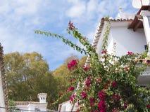 Mijas una di villaggi 'bianchi' più bei di Andalusia Fotografie Stock