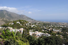 Mijas village. An aerial view of Mijas village in the Costa del Sol, Spain Royalty Free Stock Photography