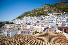 Mijas village in Andalusia, Spain. Typical white village with lot of houses. Stock Images
