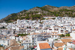 Mijas village in Andalusia, Spain. Typical white village with lot of houses. Royalty Free Stock Photography