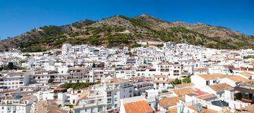 Mijas village in Andalusia, Spain. Typical white village with lots of houses. Stock Photos