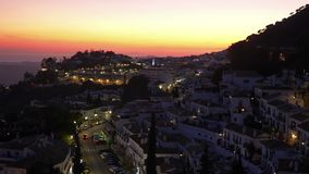 Mijas village in Andalusia with white houses, Spain stock footage