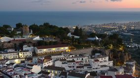 Mijas village in Andalusia with white houses, Spain stock video