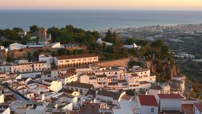 Mijas village in Andalusia with white houses, Spain stock video footage