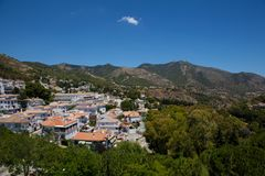 Mijas village. View of the village of Mijas on a sunny day. Costa del Sol, Andalusia, Spain. Picture taken 20 june 2019 royalty free stock photography