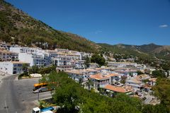 Mijas village. View of the village of Mijas on a sunny day. Costa del Sol, Andalusia, Spain. Picture taken 20 june 2019 stock photo