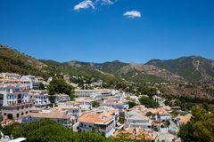 Mijas village. View of the village of Mijas on a sunny day. Costa del Sol, Andalusia, Spain. Picture taken 20 june 2019 stock images
