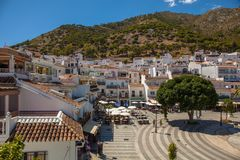 Mijas village. View of the village of Mijas on a sunny day. Costa del Sol, Andalusia, Spain. Picture taken 20 june 2019 stock image