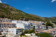 Mijas village. View of the village of Mijas on a sunny day. Costa del Sol, Andalusia, Spain. Picture taken 20 june 2019 stock photography
