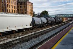 Mijl Lange Railcars - 3 Royalty-vrije Stock Foto's