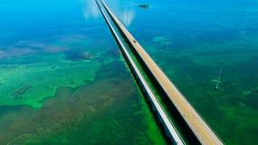 7 mijlbrug Lucht Mening De Sleutels van Florida, Marathon, de V.S. stock foto