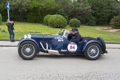 1000 mijlen, Aston Martin Le Mans (1933), MOCERI Giovanni en CA Royalty-vrije Stock Afbeelding