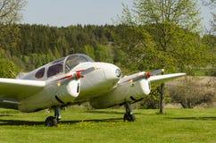 Mijlen van Tweeling het uitstekende vliegtuig Royalty-vrije Stock Foto