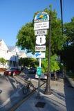 Mijlteller Nul - Key West Florida stock afbeelding