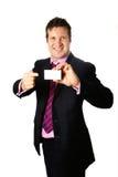 Mijn aantal op businesscard royalty-vrije stock fotografie