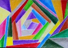 Mijn abstracte tekening van diverse kleuren royalty-vrije stock afbeelding