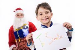 Mijn brief aan Kerstman Stock Afbeeldingen